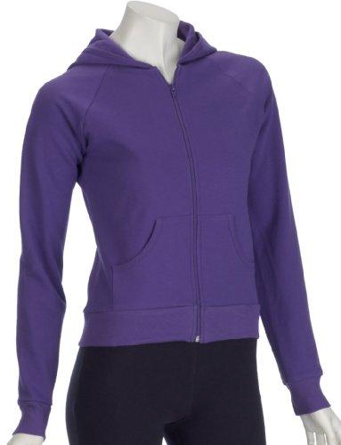 American Apparel Womens California Fleece Zip Hoody Purple Large