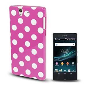Purple and White Dots Pattern TPU Case for Sony Xperia Z / L36H / C660X