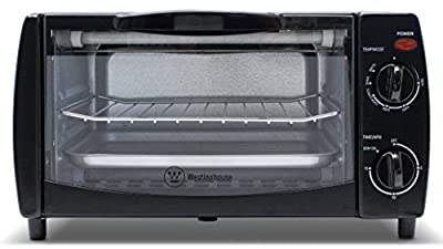 Westinghouse WTO1010B 4-Slice Toaster Oven, 10-Liter, Black