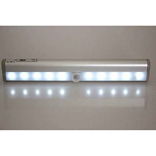 Brila Motion Sensor Led Night Light, Wireless Infrared Motion Detector Light, Closet Light, Wall Light, Bed Lamp, Drawer Light, Corridor Light, Security Light. Aaa Battery Powered. (Silver Light)