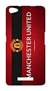 Micromax Canvas Hue2 A316 Manchester United Football Club Design Back Cover - Printed Designer Cover - Hard Case - MCH2A316CMBMUFC019