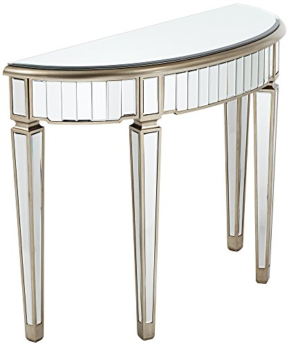 Iliana Antique Silver and Mirror Console Table (Mirror For Console compare prices)