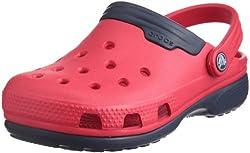 Crocs Duet Kids Red And Navy 0.5 UK Junior