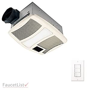 Nutone Qtxn110hflt High Power 110cfm Exhaust Ventilation Bathroom Fan With Heater And