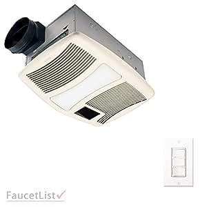 Nutone qtxn110hflt high power 110cfm exhaust ventilation - Bathroom exhaust fan control switch ...