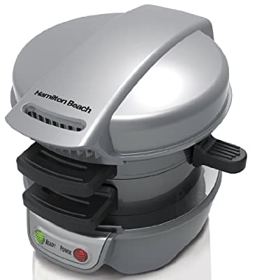 Hamilton Beach Breakfast Sandwich & Belgian Waffle Maker Bundle | 25475 + 26070 by Hamilton Beach
