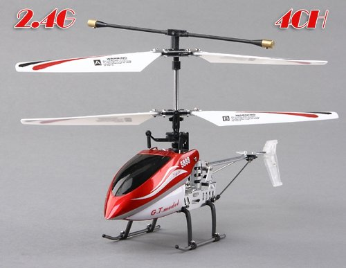 G.T.Model 5888 4-channel 2-Speed 2.4GHz R/C Helicopter (Red)