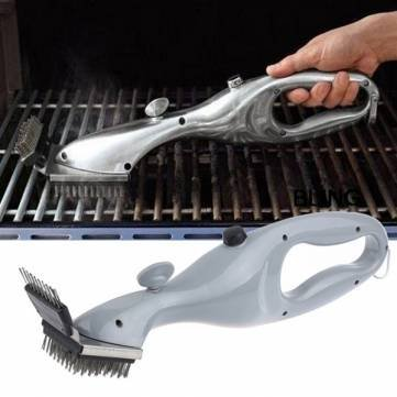 Stainless Steel BBQ Cleaning Brush Handheld Grill Cleaning Brush Barbecue Cleaning Tool