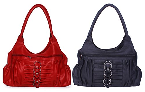 Arc HnH Women Combo Handbag Magnificent - Red+Black