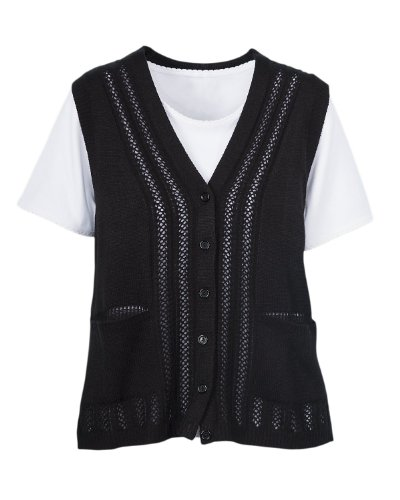 National Classic Sweater Vest, Black, 1X