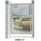 三協アルミ 形材門扉末広2型 0710 片開き門柱タイプ   ホワイト