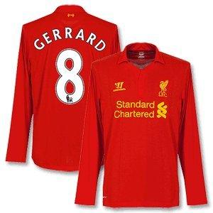 12-13 Liverpool Home Ls Shirt Gerrard 8-m from Warrior