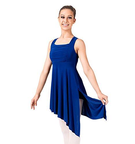 Adult Twist Back Lyrical Dress,N8600IBLM,Ink Blue,Medium