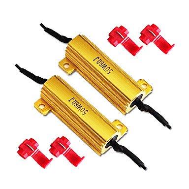 LIROOT50W 6Ohm resistenze di carico per i LED indicatori di direzione o luci targa (Fix Hyper Flash, Cancellor di avvertimento)