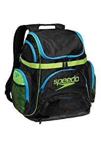 Speedo Performance Pro Backpack, Large, Turquoise/Lime