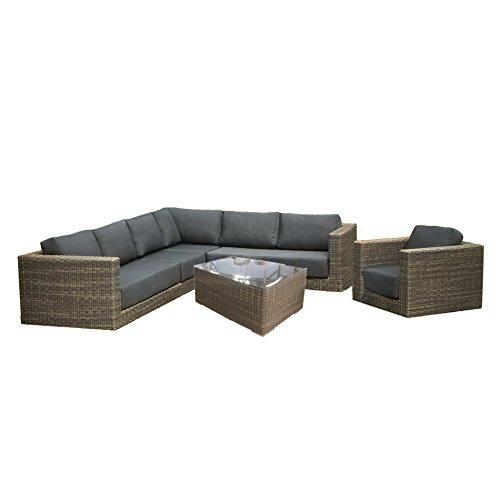 Gartenlounge OUTLIV. Aria Loungeset 6-teilig Geflecht Kubu grau 712801-841085 online bestellen