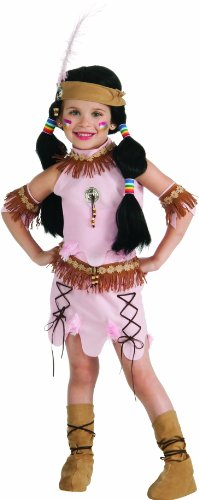 Deluxe Child Princess Of The Dawn Native American Costume, Small front-1047857