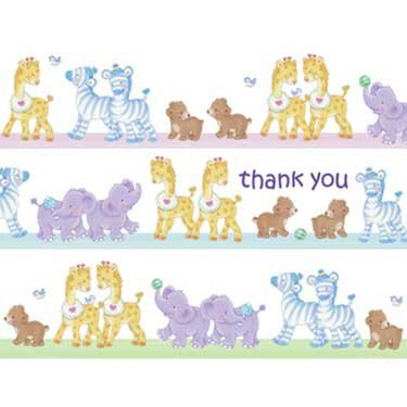 Noah'S Ark Baby Shower Thank You Notes - Ark Theme Thank You Cards - 8 Count front-1003159