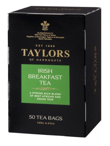 Taylors of Harrogate Irish Breakfast Tea, 50-Count Tea Bags (Pack of 6)