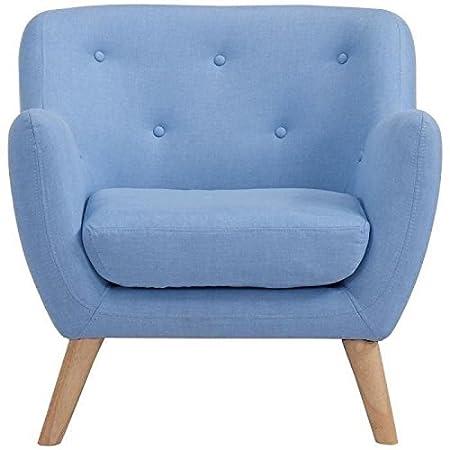 Scandi fauteuil design scandinave bleu