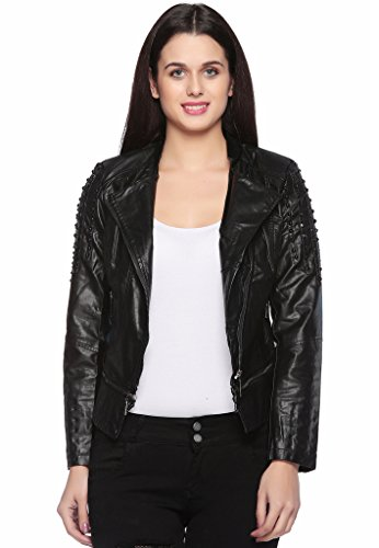 Fasnoya Women's Faux Leather Jacket