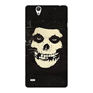 Delighted Vintage Skull Face Back Case Cover for Sony Xperia C4