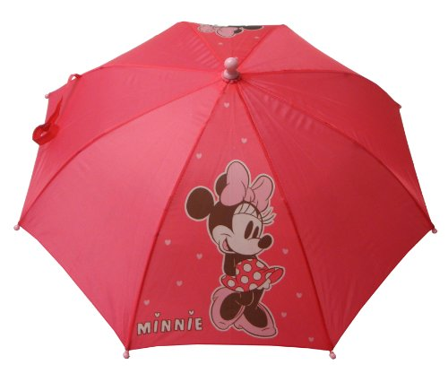 Girls Minnie Mouse Umbrella. - Pink - UK 1-1