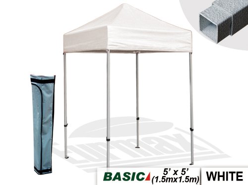 5X5 Easy Pop Up Tent Outdoor Patio Instant Canopy With Deluxe Carry Bag (White) front-954057