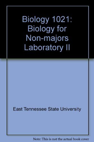 Biology 1021: Biology for Non-Majors Laboratory II