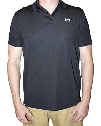 Under Armour Men UA Golf Performance Logo Polo T-Shirt (XL, Black)
