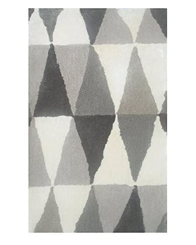 Pop Accents Small World Scatter Rug, Gray, 16″ x 27″