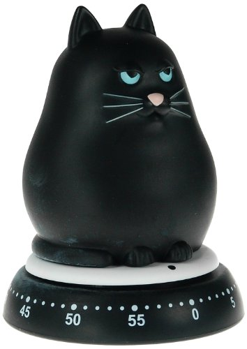 Bengt Ek Design Cat Mechanical Timer, Black 14461800