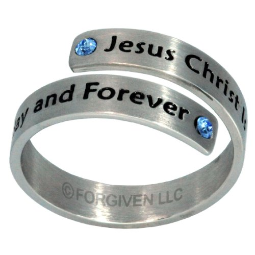 Rg8 Forgiven Jewelry-Jesus Is The Same Forever Stainless Steel Ring Size 9-Christian Jewelry
