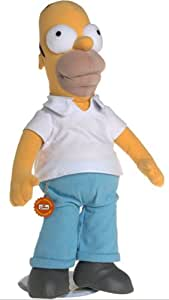 18 inch Plush Talking Poseable Homer Simpson with stand