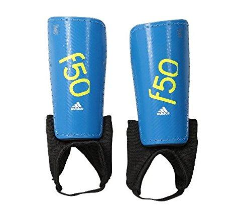 adidas Performance F50 Youth Shin Guard, Solar Blue/Semi Solar Yellow, Large (Jems Online Inc compare prices)