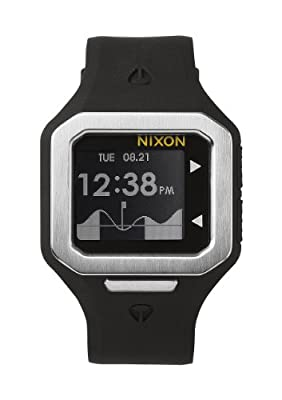 Nixon Men's Supertide Digital Quartz Black Watch
