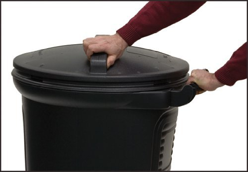 United Solutions TB0052 Wheeled Trash/Garbage Can With