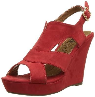 XTI 29465, Sandales femme - Rouge (Red), 37 EU