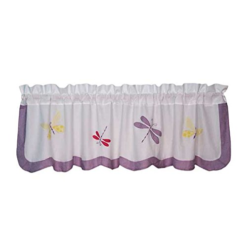 Dragonfly Butterfly Window Valance front-1003803