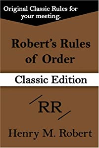 "Cover of ""Robert's Rules of Order (Classi..."
