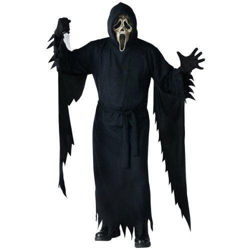 Ghost Face Zombie Collectors Adult Costume Fits up to 6' & 200lbs.