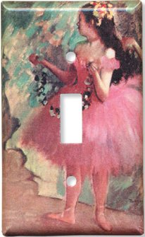 Degas: Dancer in Rose Dress Switch Plate - Single Toggle