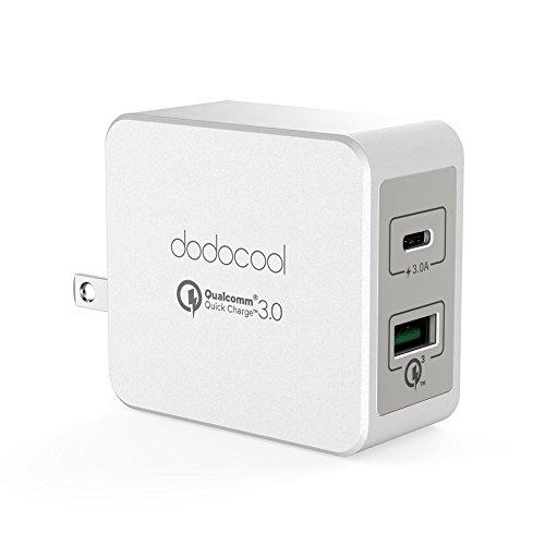 dodocool 2ポート USB急速充電器 USB-C Type-C充電器 PD充電器 QC3.0 18W+Type-C 15W 折りたたみ式プラグ搭載