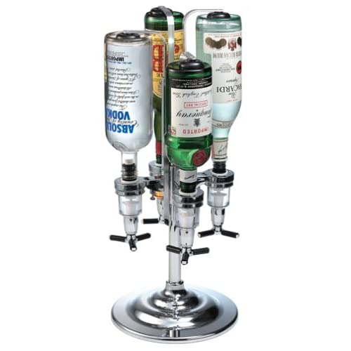 Global decor 170 rotating 4 bottle 1 1 2 ounce drink dispenser for Decor drink bottle