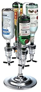 Global Decor 170 Rotating 4 Bottle 1-1/2-Ounce Drink Dispenser