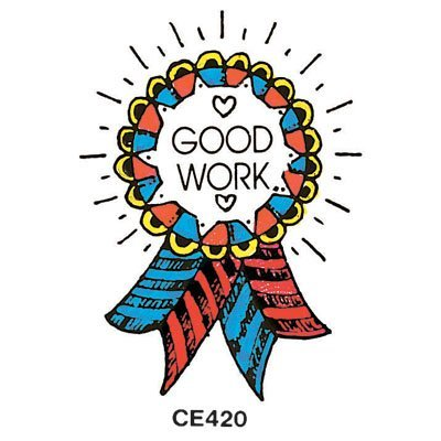 "Center Enterprise CE420 ""GOOD WORK RIBBON"" Stamp"