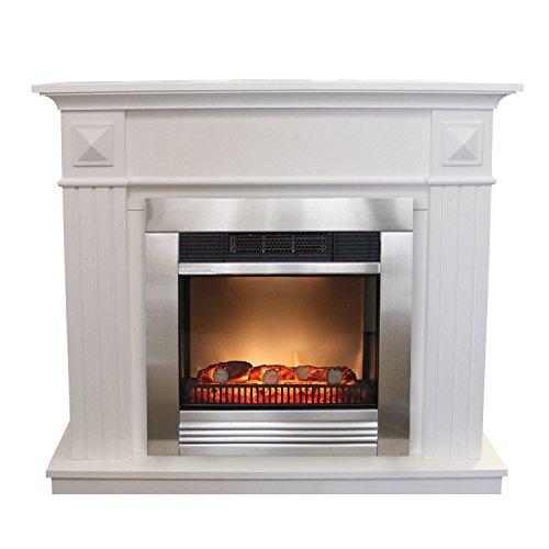 Classic-Fire-Edelstahlkamin-Elektrischer-Kamin-mit-patentiertem-LED-Feuereffekt-1800W-inklusive-Kaminumrandung-Classic-Fire-Elektrokamin-mit-Edelstahlfront-Kaminfeuer-Kaminkonsole-MDF-wei