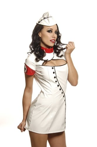 Folter 2 Piece SEXY NURSE Womens Costume Outfit - White