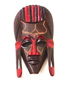 Katangi Handcrafts Hand Carved Wooden Devil Mask - (20cm) by Katangi Handcrafts