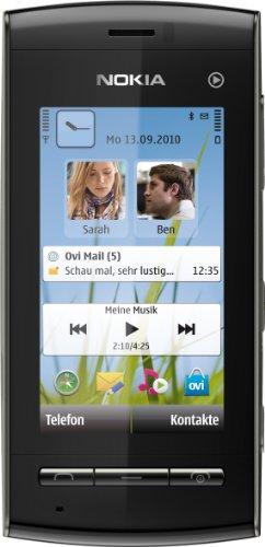 Nokia 5250 Smartphone (7,1 cm (2,8 Zoll) Display, Touchscreen, 2 Megapixel Kamera) schwarz